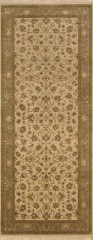 010215 Indo Kashan Wool and Viscose 2 7 x 6 5  990-  vg plus edit